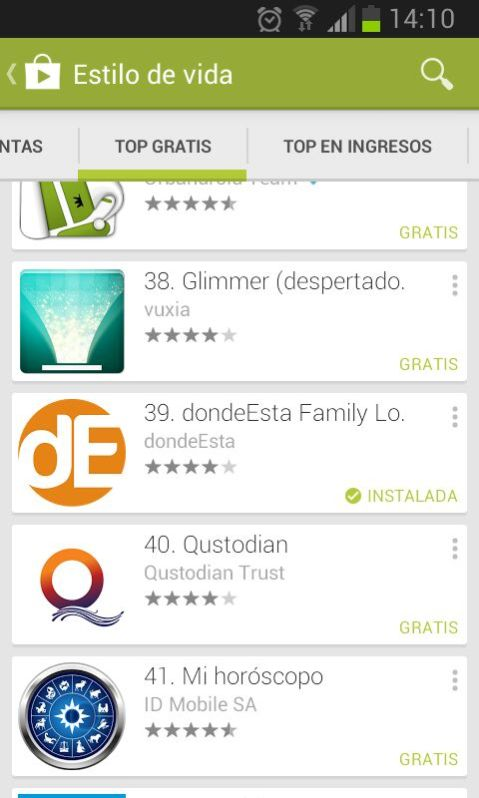 Top GooglePlay Spain