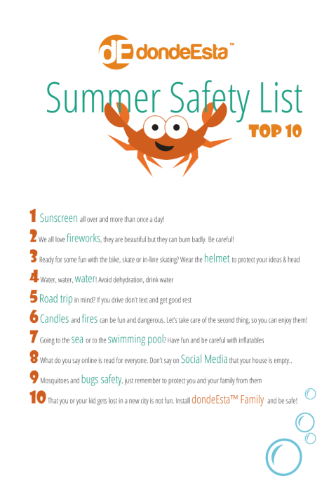 dondeEsta Summer Safety List Top10